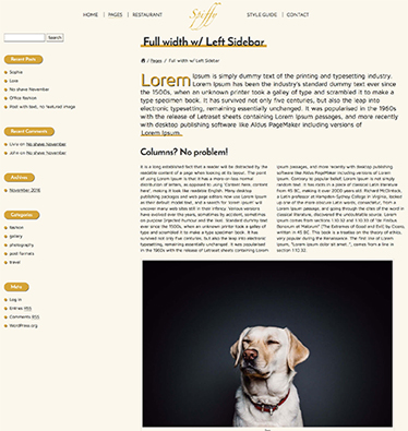 Spiffy - Elegant WordPress Theme