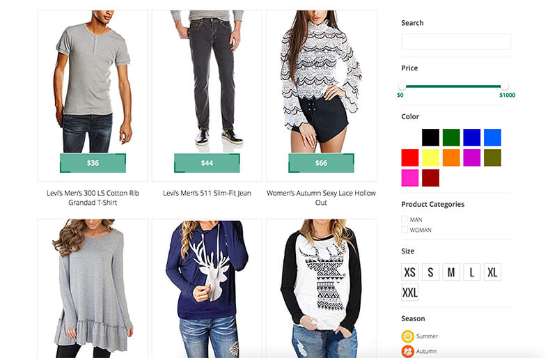 Clothes Store (WooCommerce)