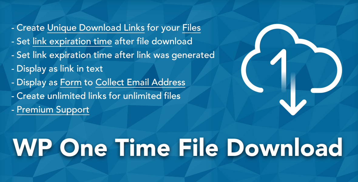 WP One Time File Download
