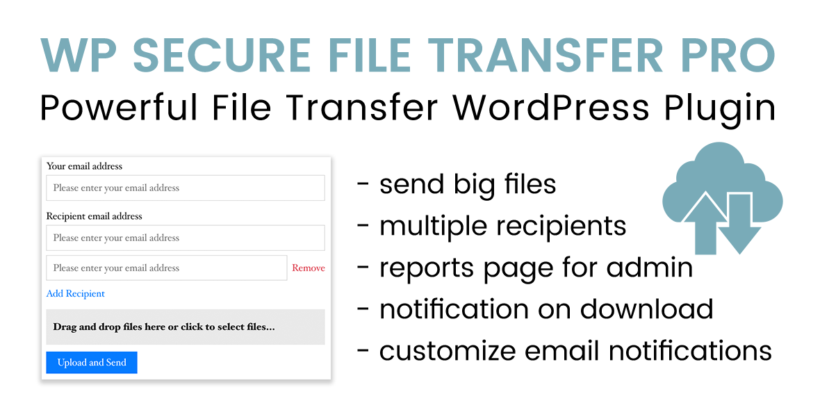 WP Secure File Transfer PRO
