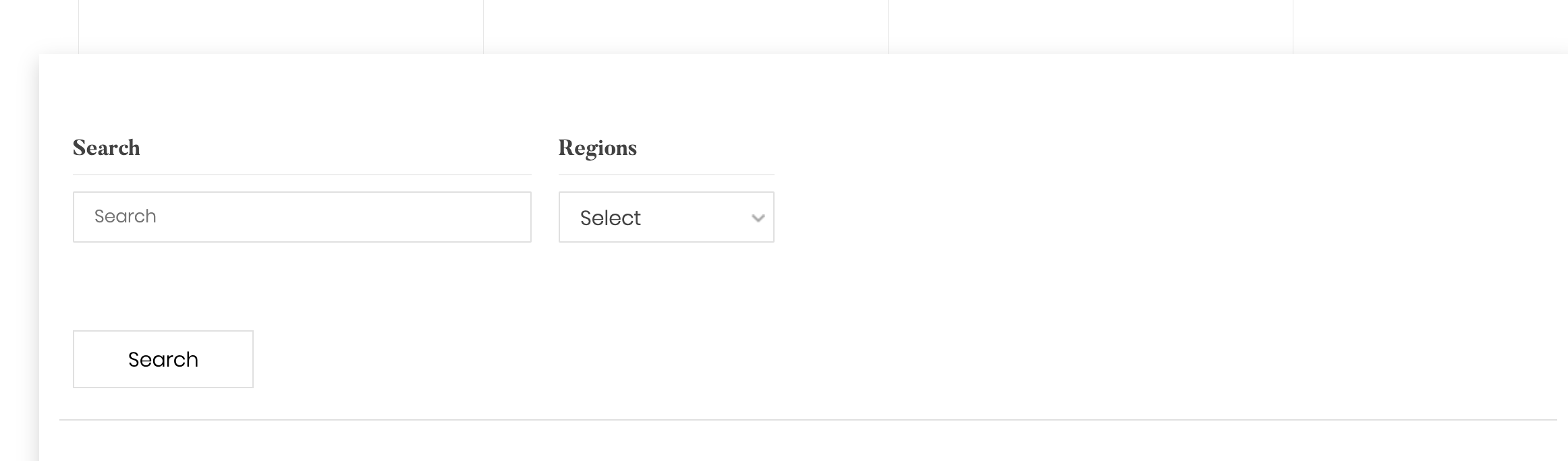 display search fields
